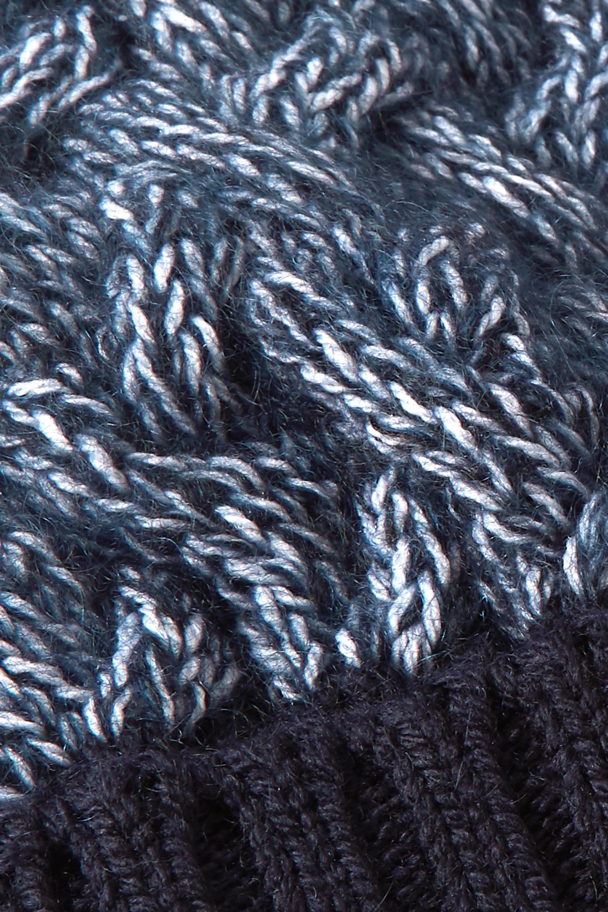 Chloé Cable-knit mélange wool-blend beanie