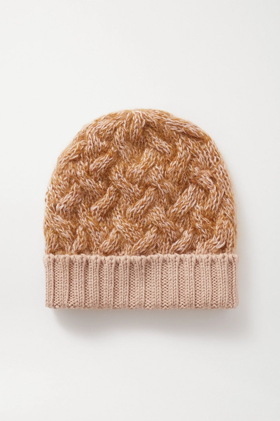 Chloé Cable-knit mélange wool-blend beanie