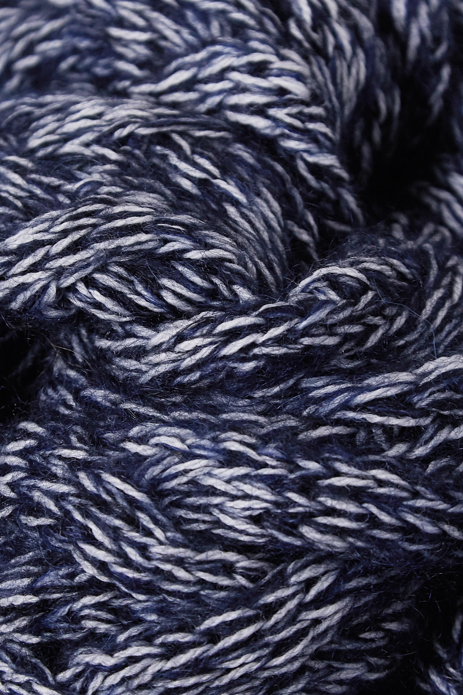 Chloé Schal aus einer melierten Wollmischung in Zopfstrick