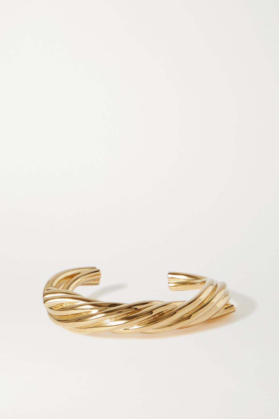 Bottega Veneta Goldfarbene Armspange