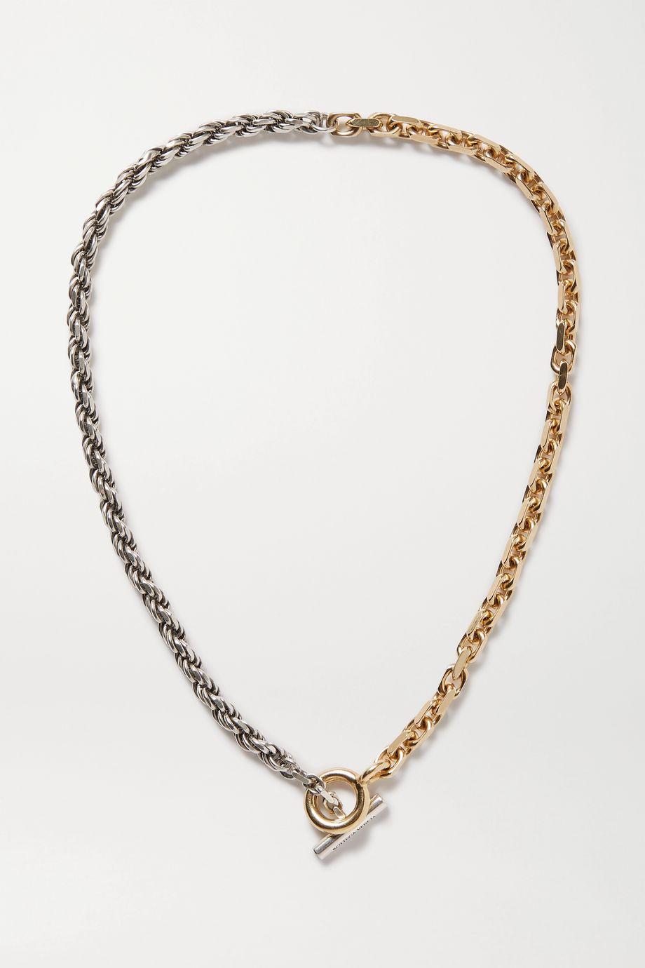 Bottega Veneta Gold and silver-tone necklace