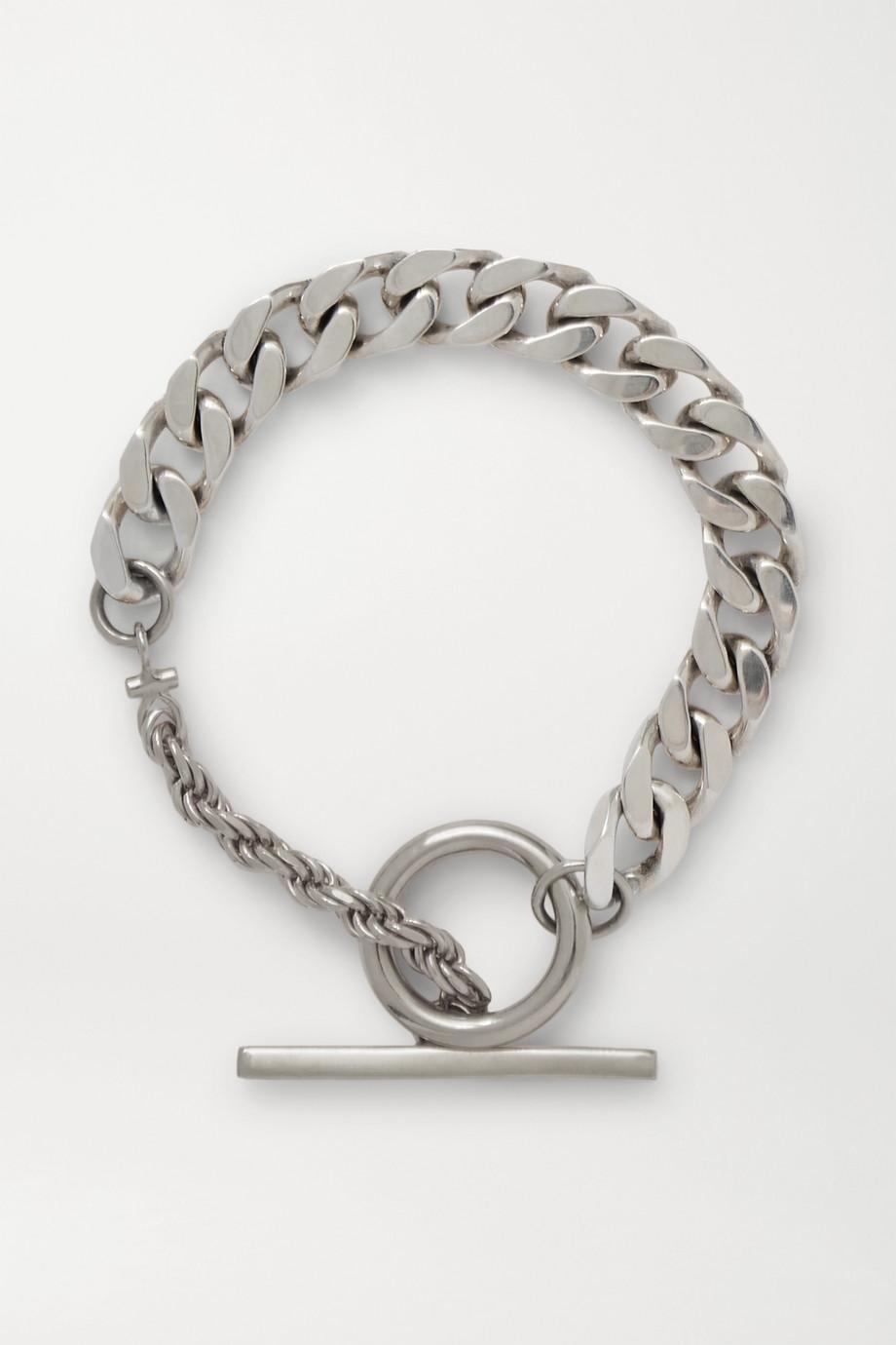 Bottega Veneta Silberfarbenes Armband