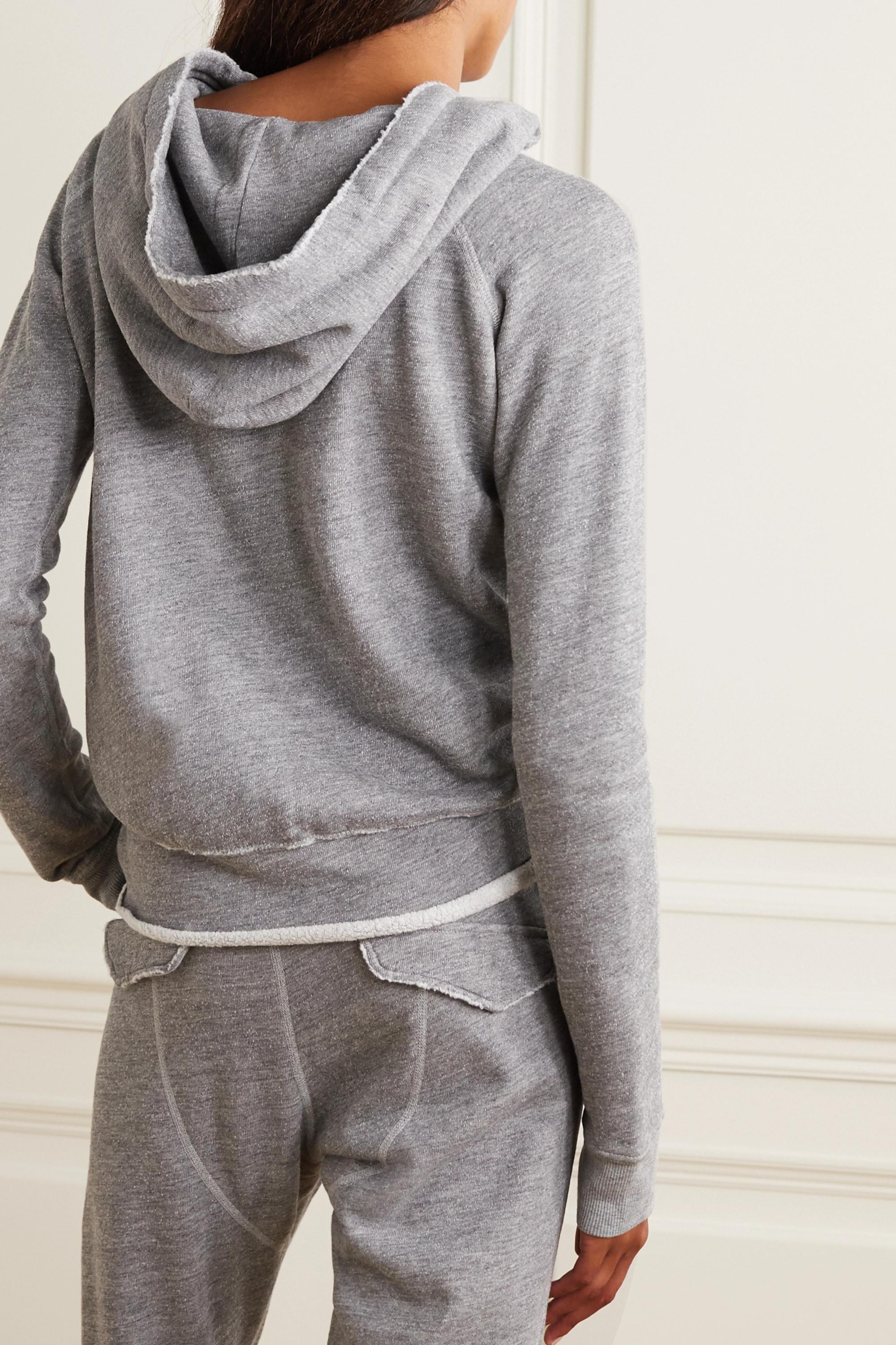 Nili Lotan Sweat à capuche en jersey de coton mélangé chiné Rayne