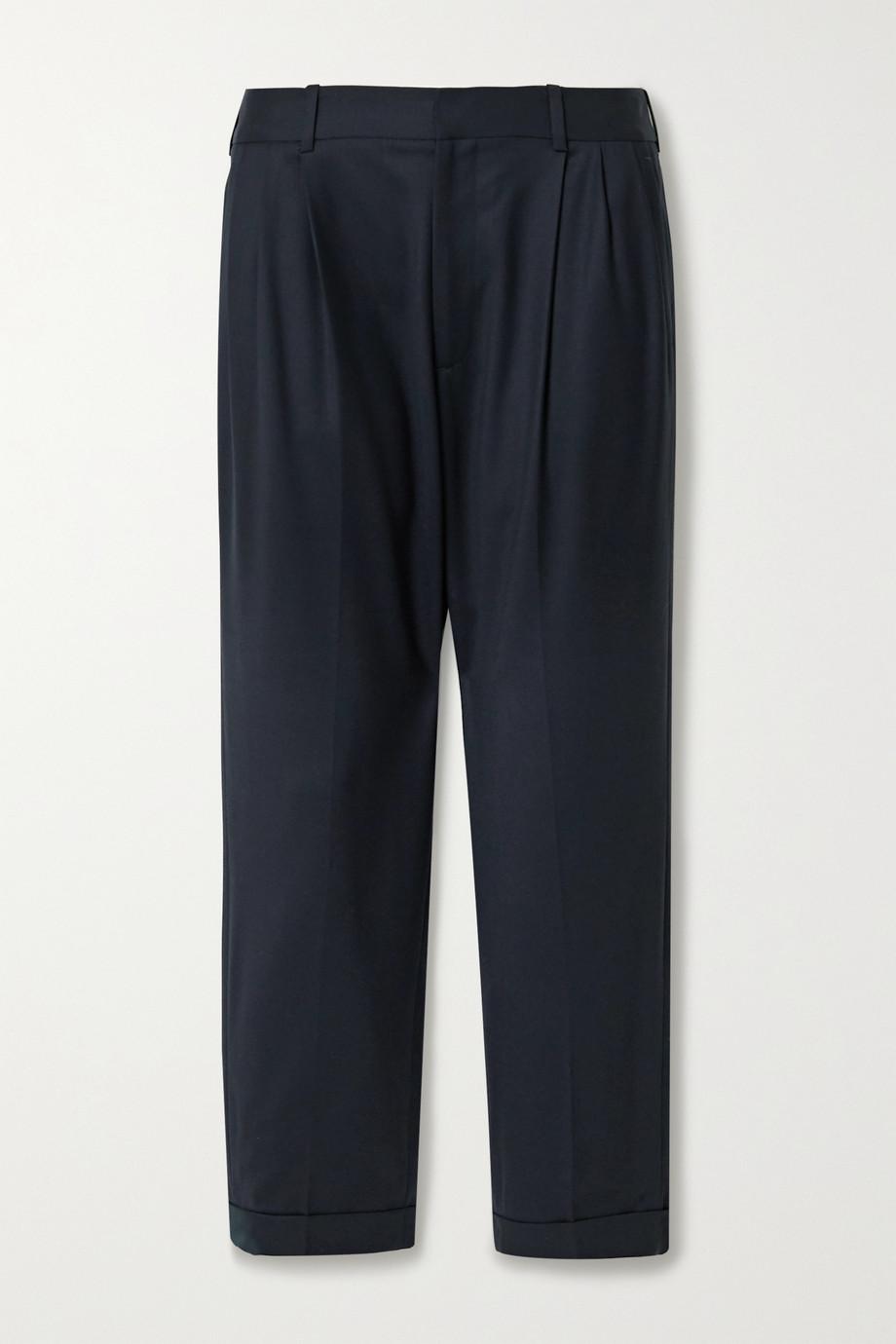 Nili Lotan Montana pleated wool-blend twill tapered pants