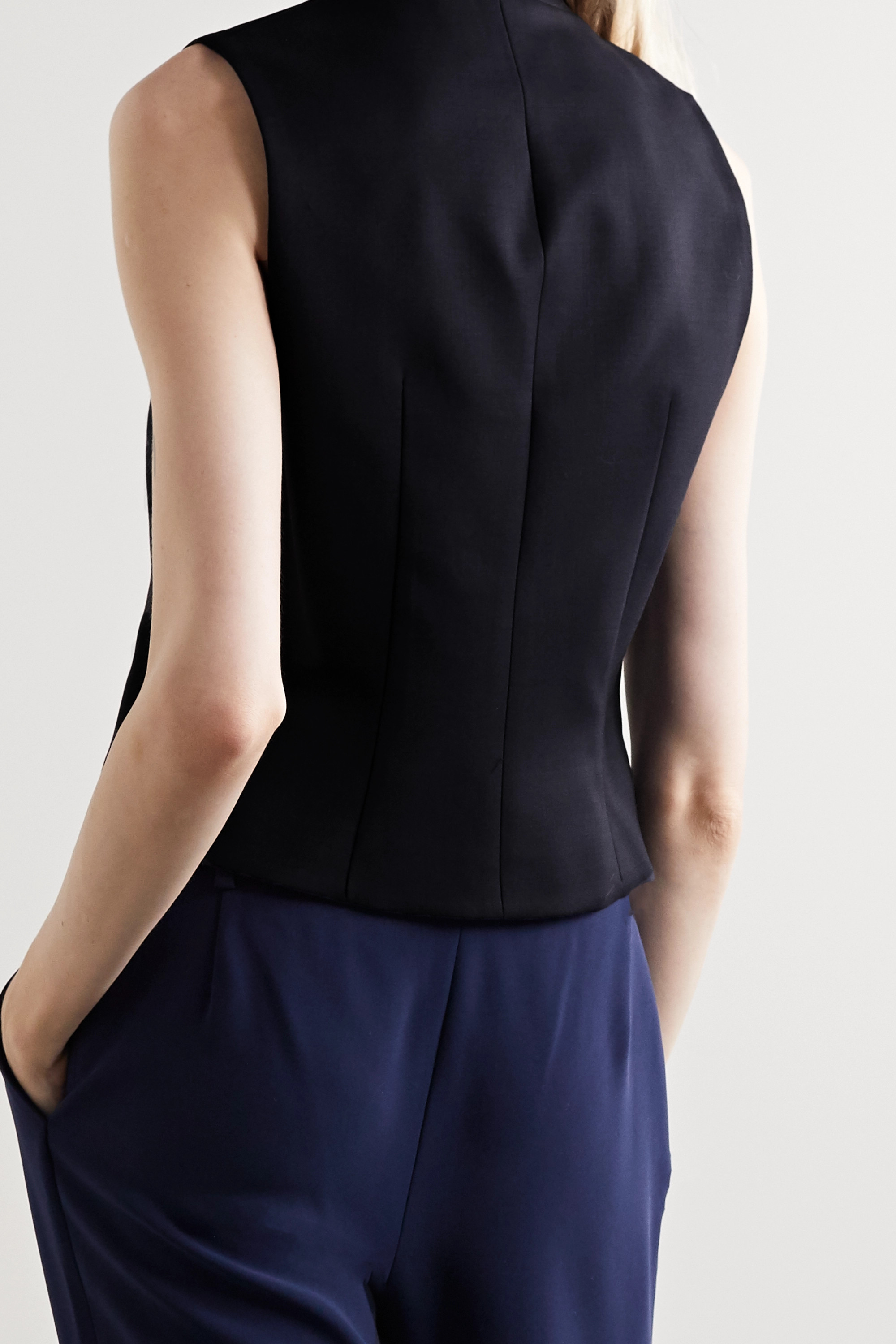 Nili Lotan Angelina stretch-wool twill vest