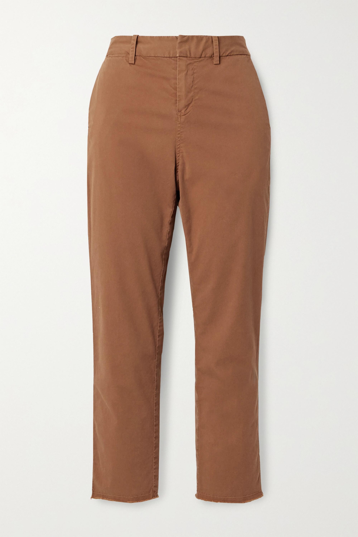 Nili Lotan Pantalon droit raccourci en serge de coton stretch effilée Montauk