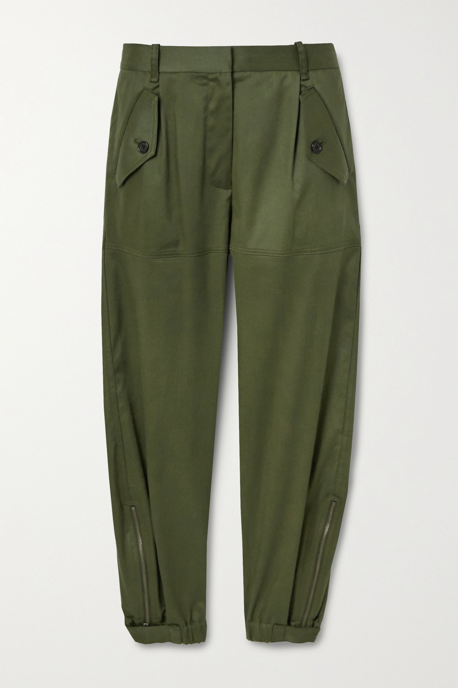 Nili Lotan Arliss cropped Lyocell-blend twill tapered pants