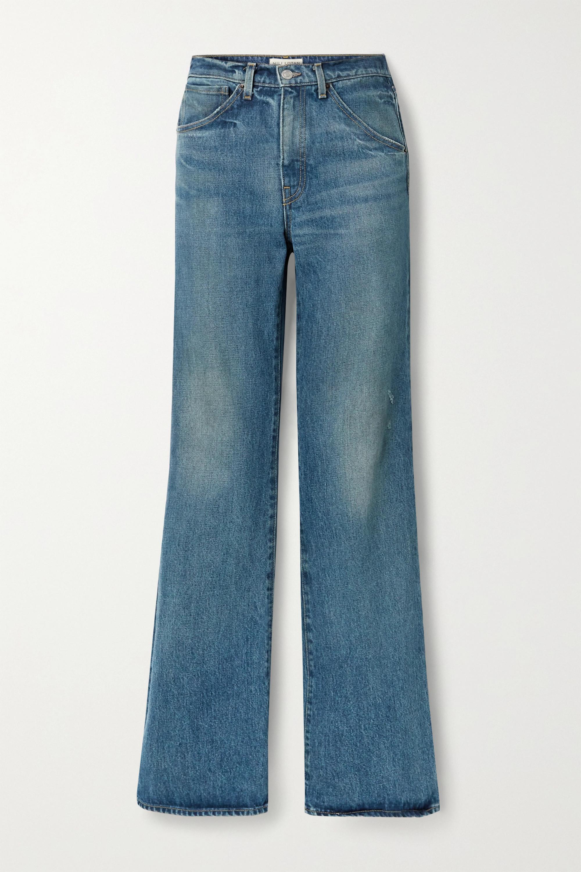 Nili Lotan Celia high-rise straight-leg jeans