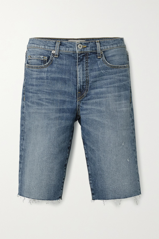 Nili Lotan Short en jean effet vieilli Sydney