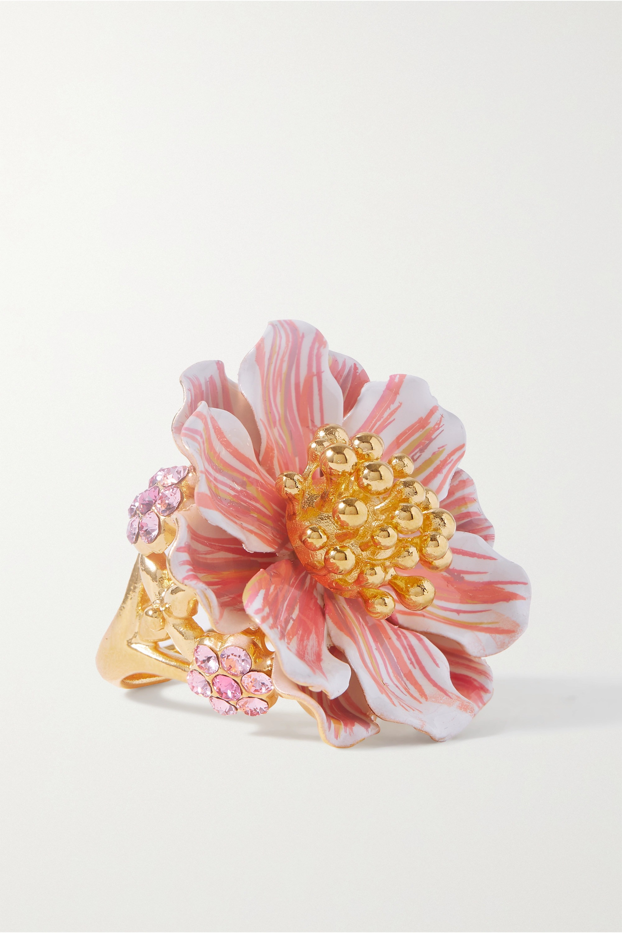 Dolce & Gabbana Gold-plated, enamel and crystal ring