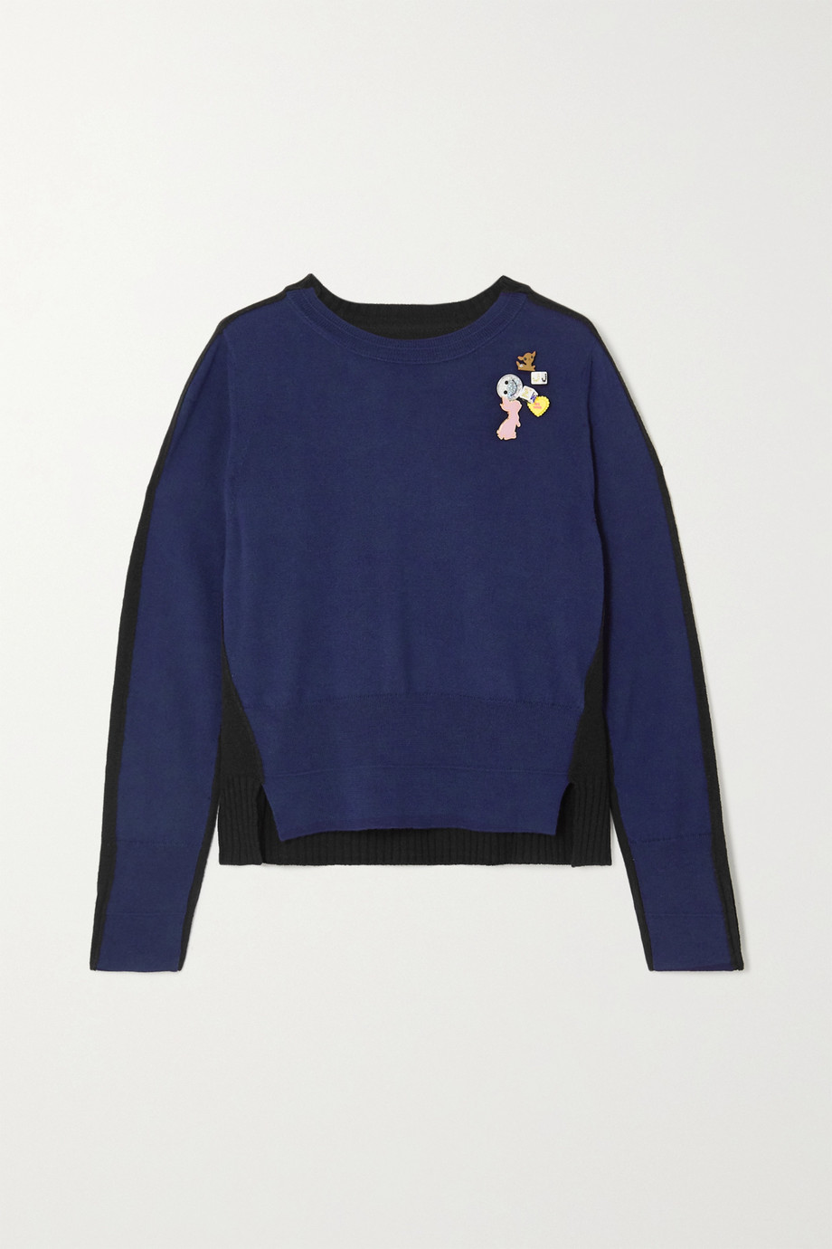 THE Marc Jacobs Embellished two-tone wool sweater