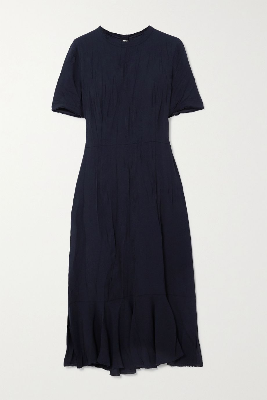 Marni Crinkled-cady midi dress
