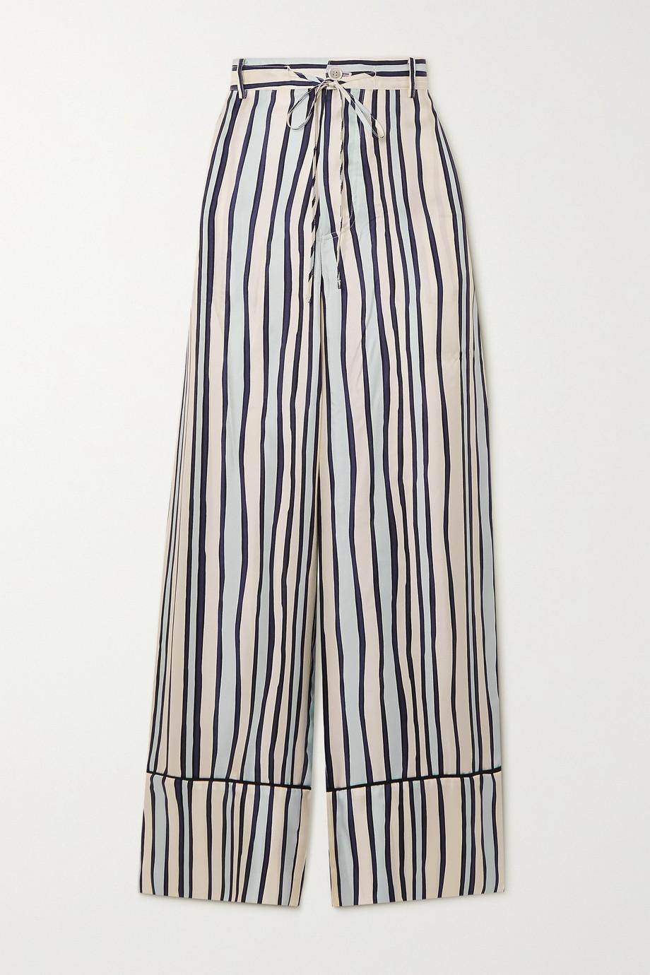 Marni Pantalon en serge de soie à rayures