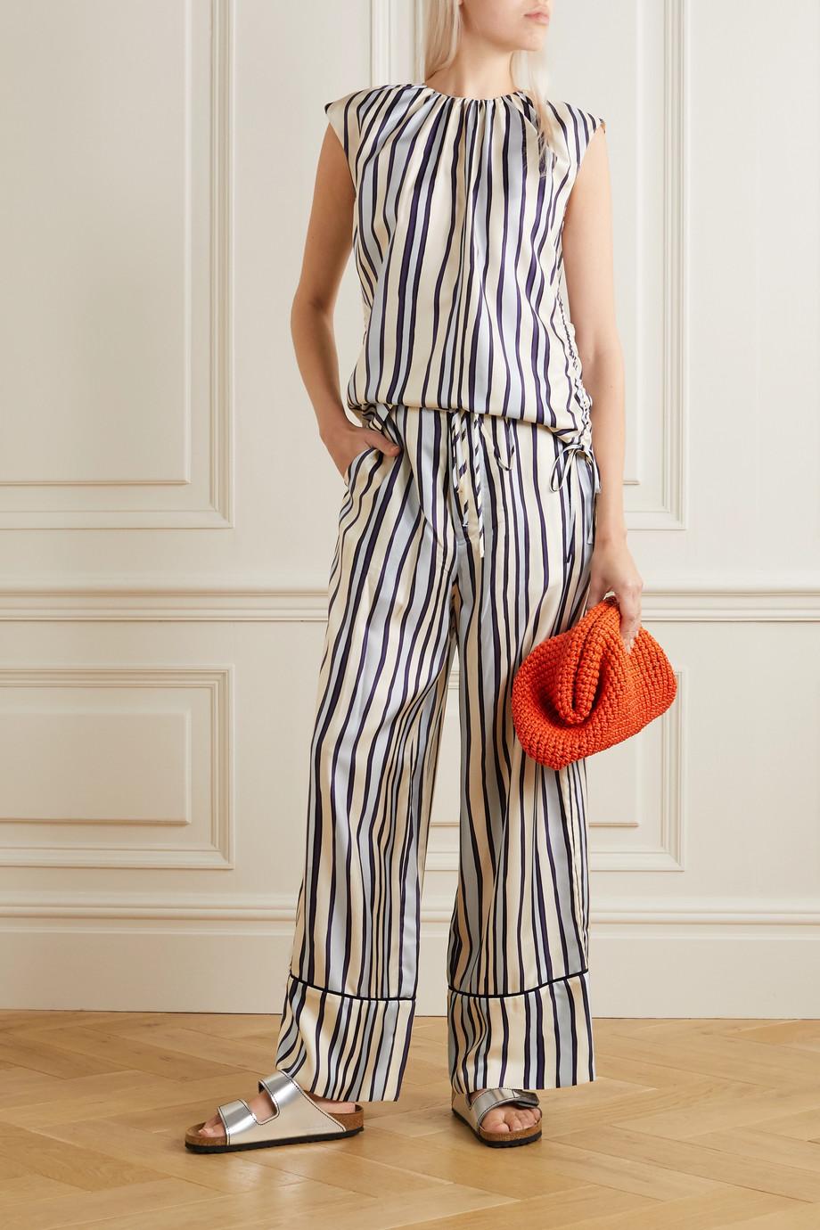 Marni Striped silk-twill pants