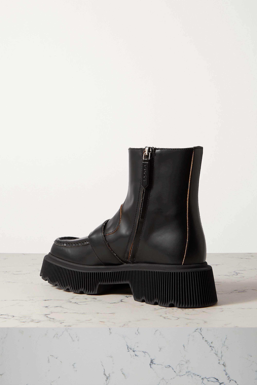 Gucci Hunder 搭扣皮革防水台踝靴