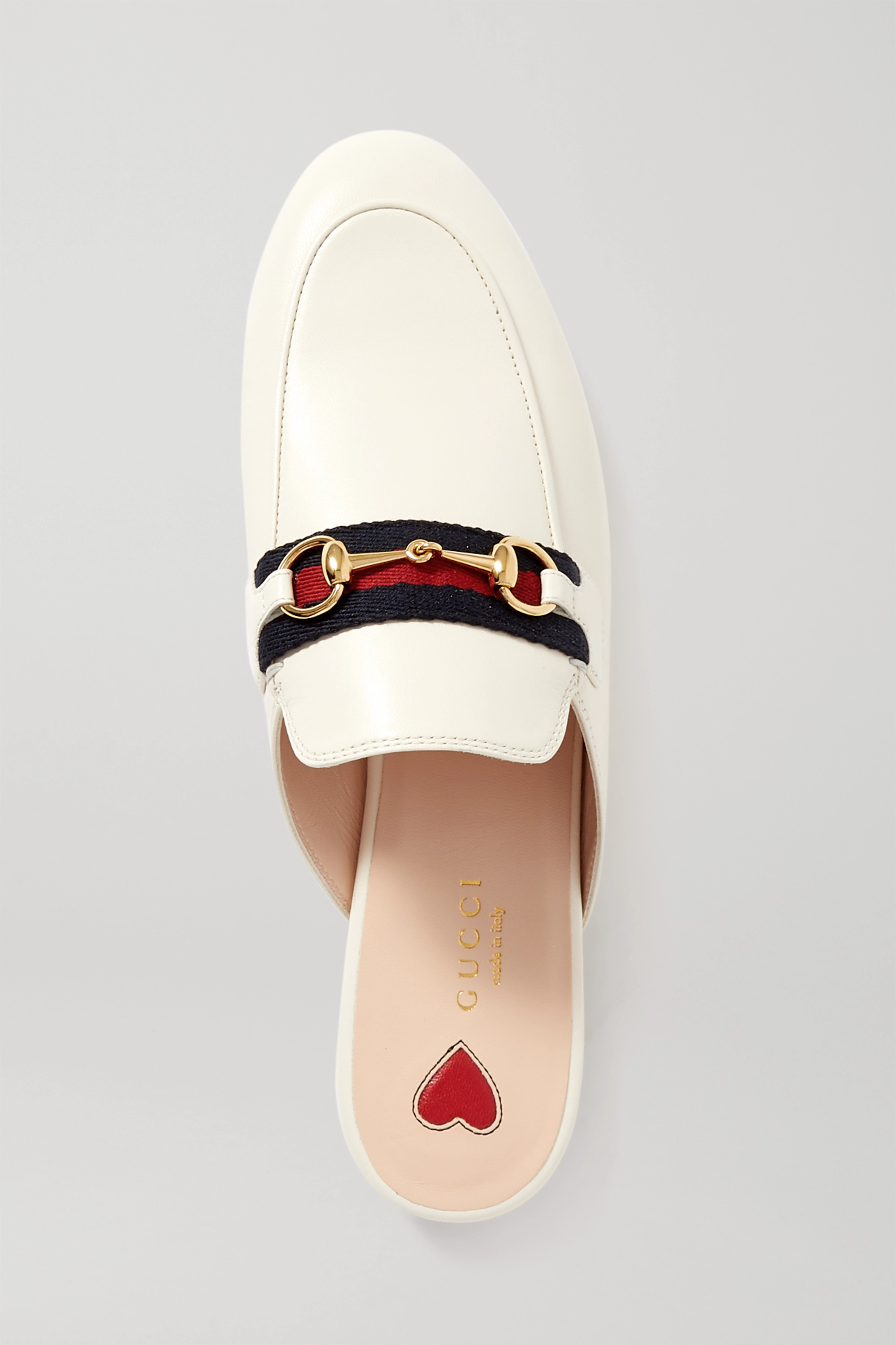 Gucci Princetown horsebit-detailed leather slippers