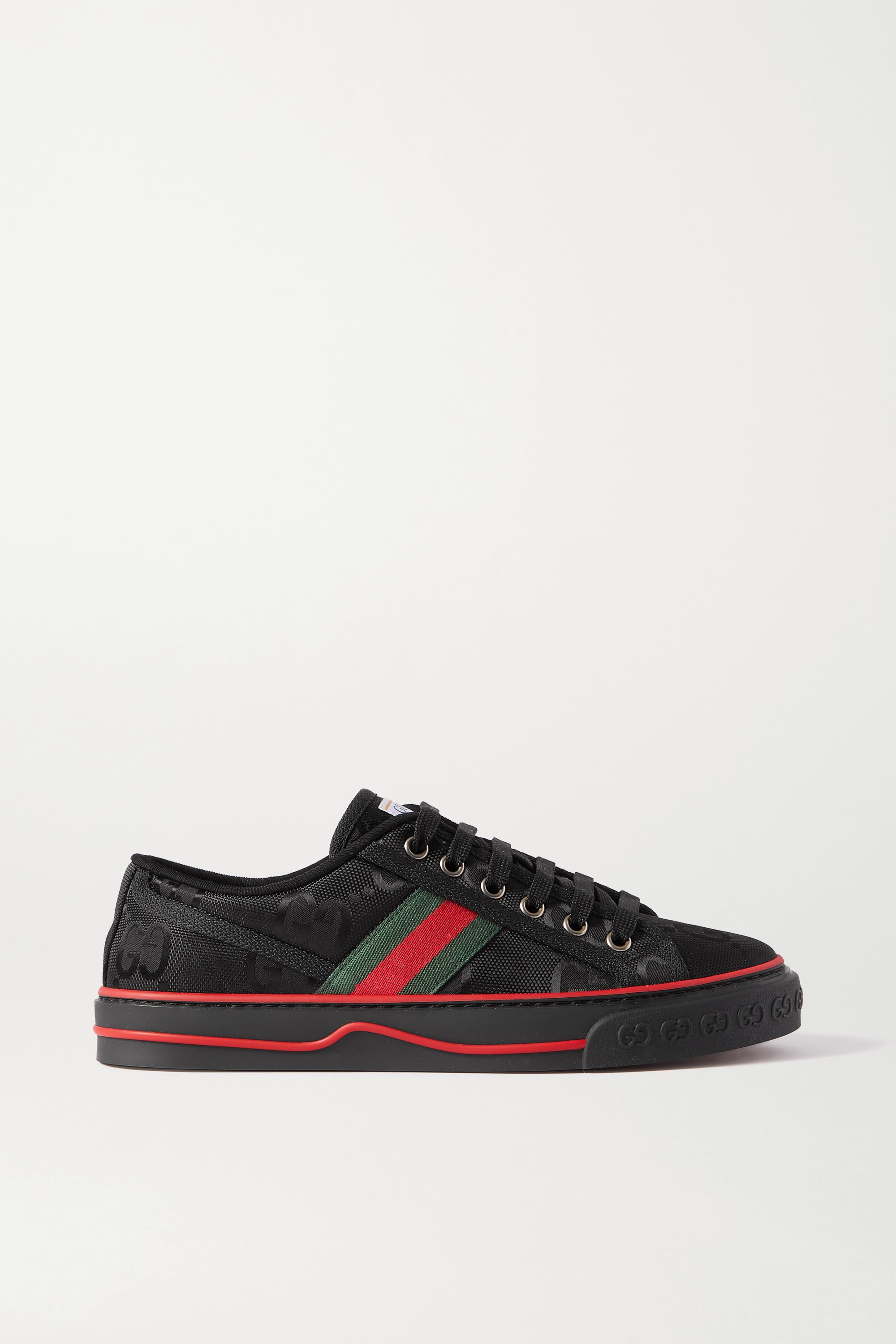 Gucci + NET SUSTAIN Tennis 1977 logo-embroidered canvas sneakers