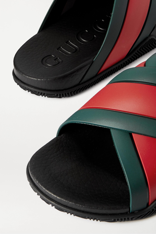 Gucci Agrado striped rubber slides
