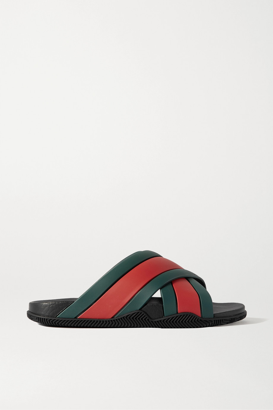 Gucci Agrado striped rubber slides