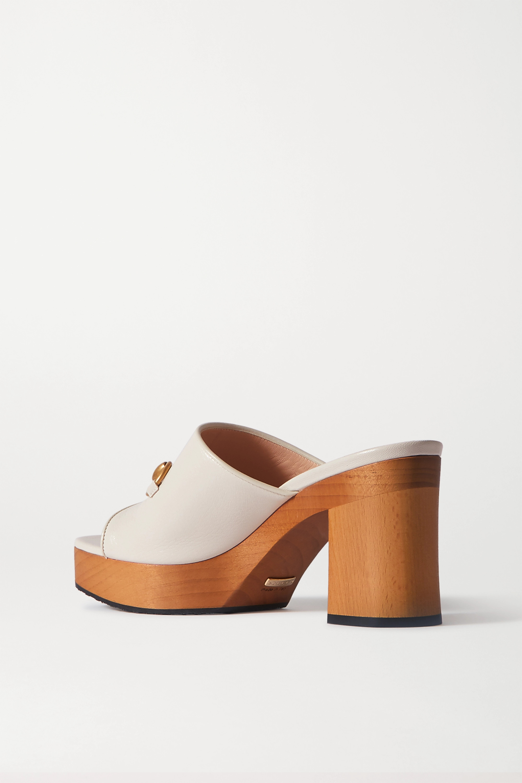 Gucci + NET SUSTAIN Houdan horsebit-detailed leather platform mules