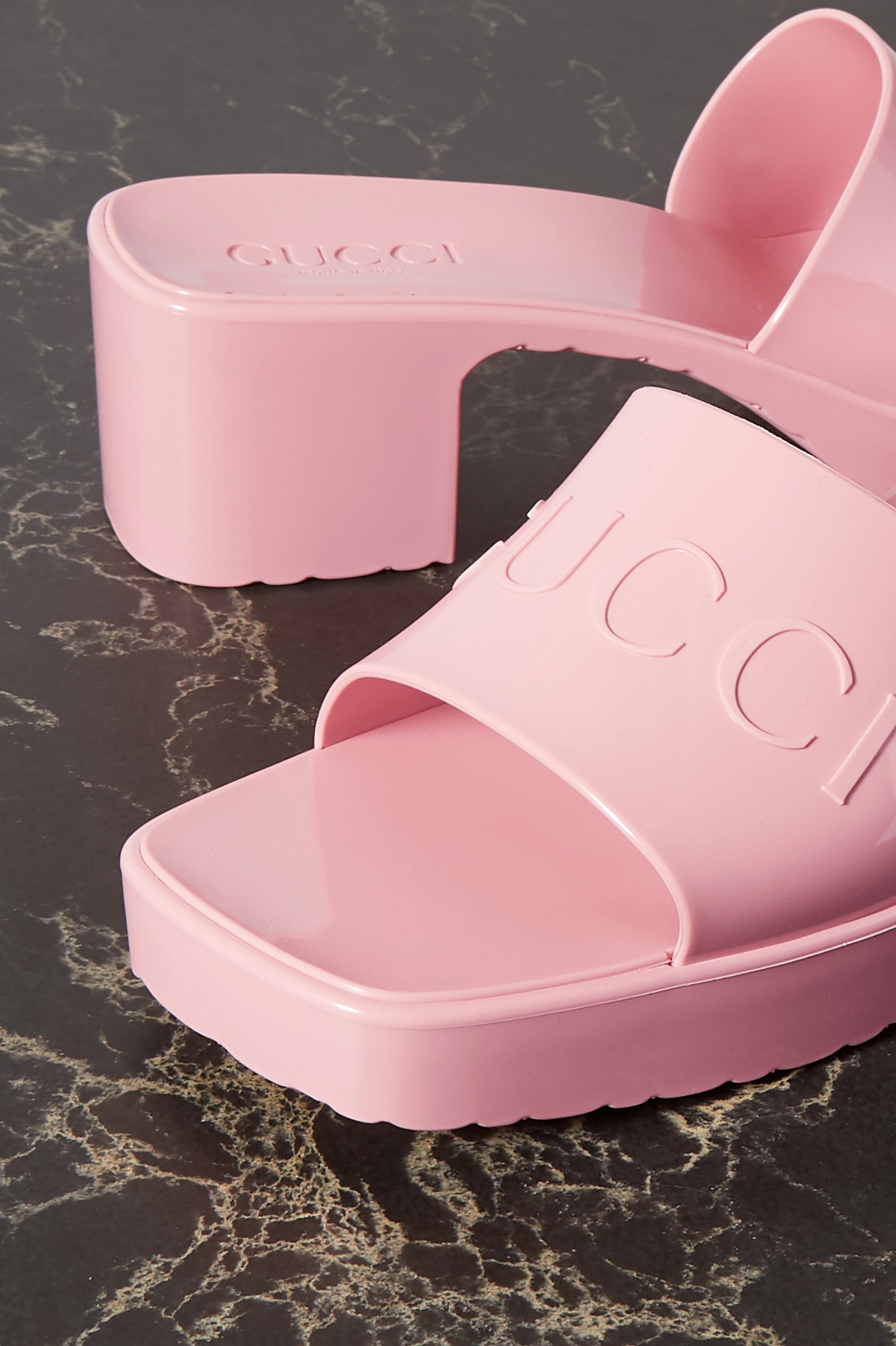 Gucci Logo-embossed rubber mules