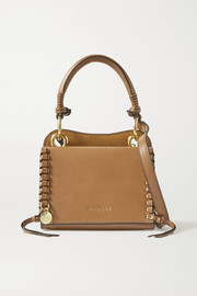 See By Chloé Tilda mini whipstiched suede and leather tote