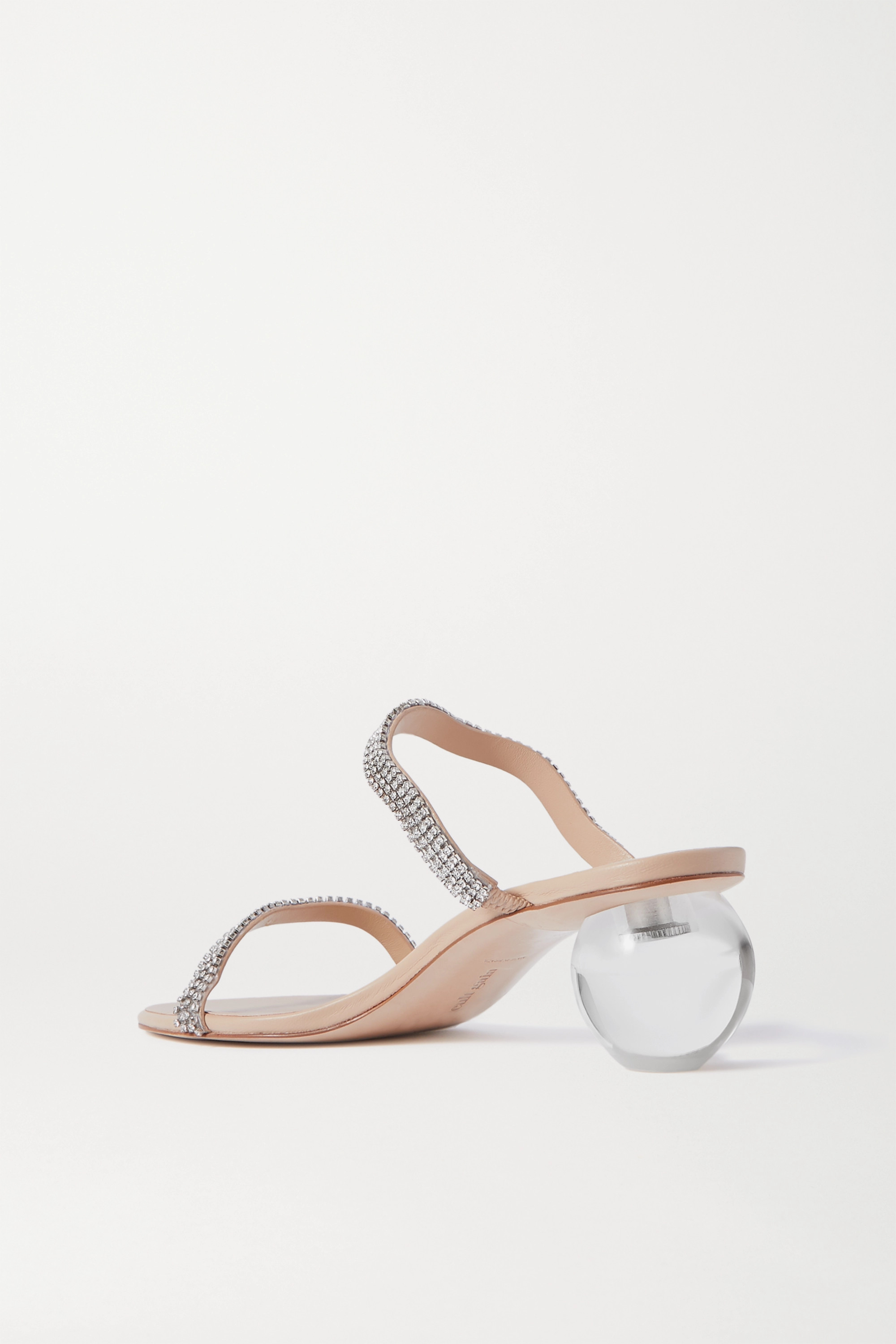 Cult Gaia Audrey crystal-embellished leather mules