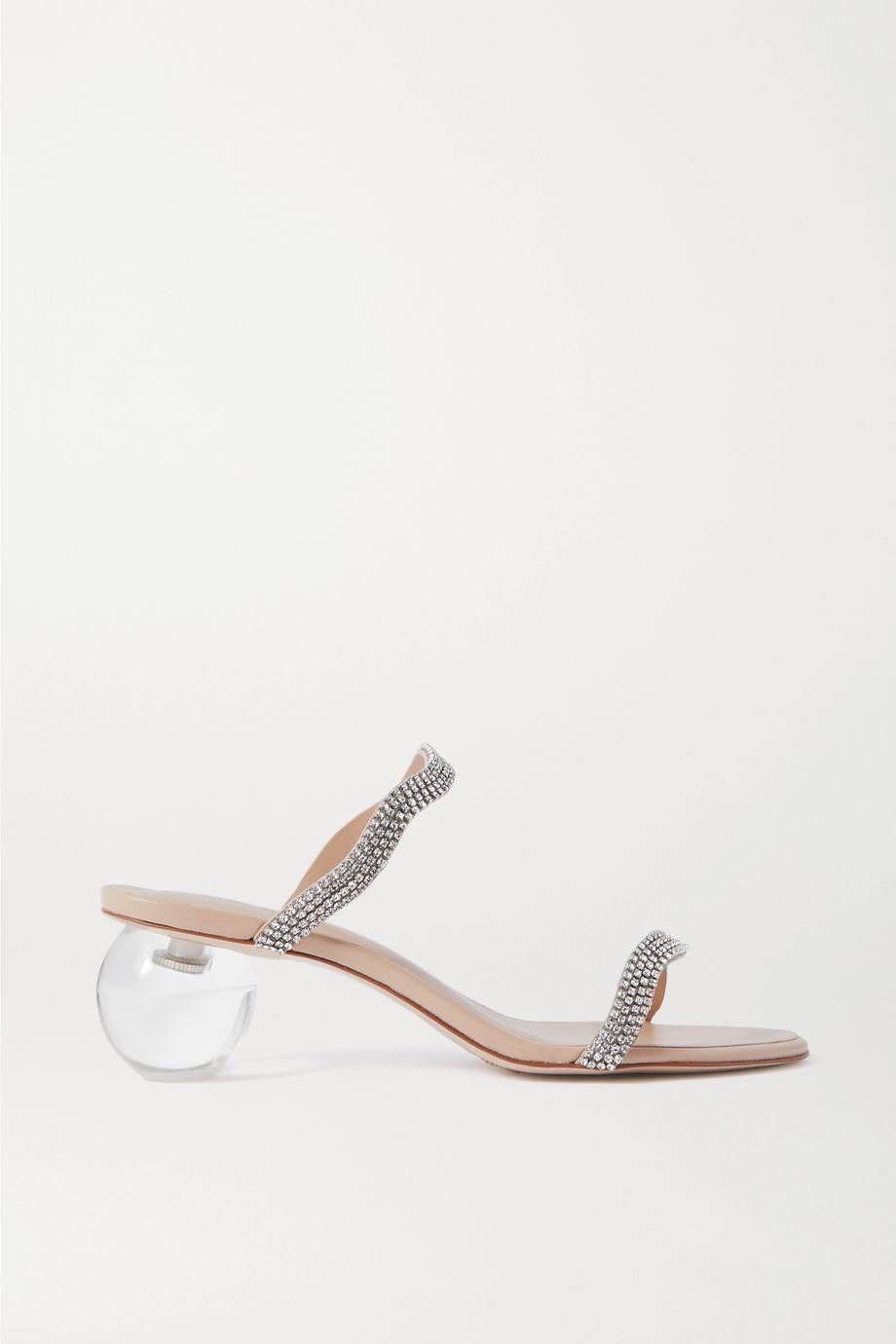 Cult Gaia Audrey 水晶缀饰皮革穆勒鞋