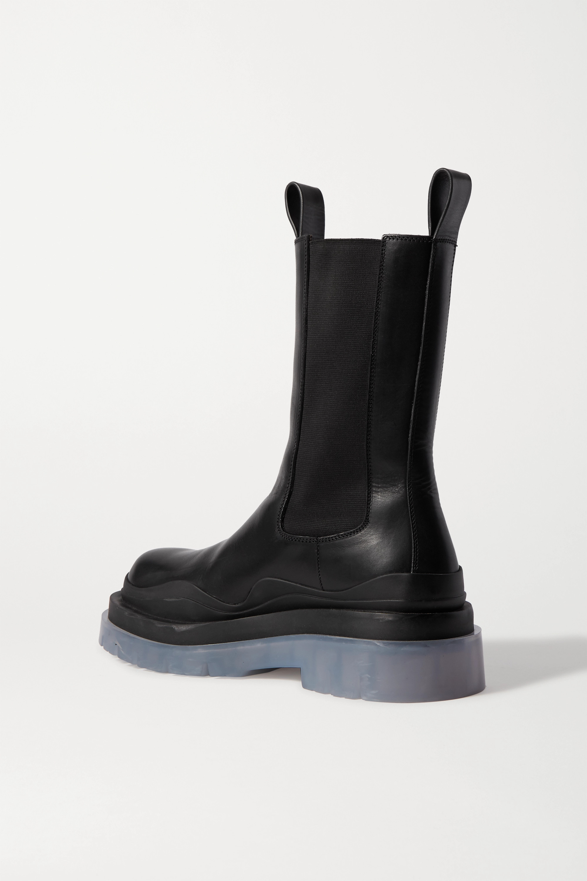 Bottega Veneta Rubber-trimmed leather Chelsea boots
