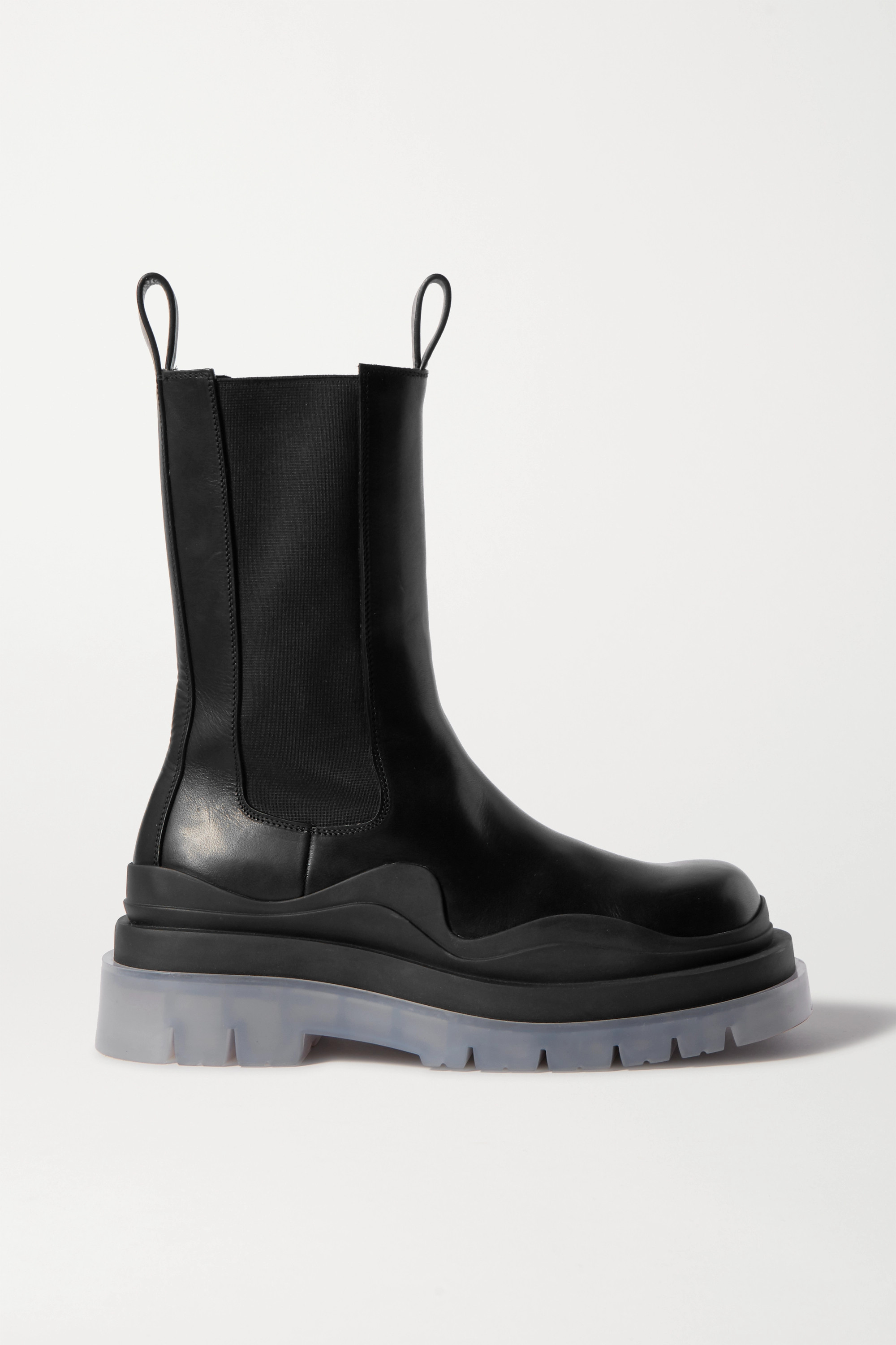 Black Rubber Trimmed Boots