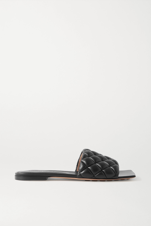 Bottega Veneta 绗缝皮革拖鞋