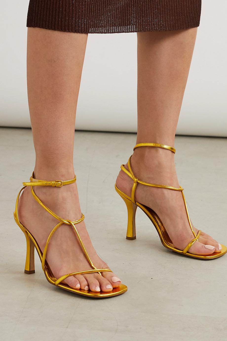 Bottega Veneta 金属感皮革凉鞋