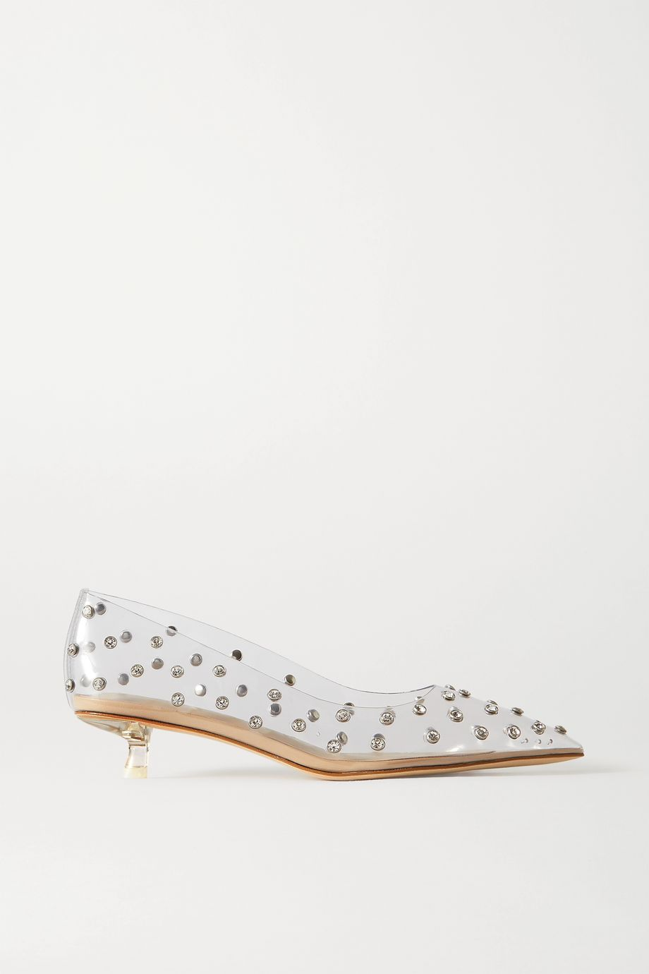 Cult Gaia Roxy crystal-embellished PVC pumps