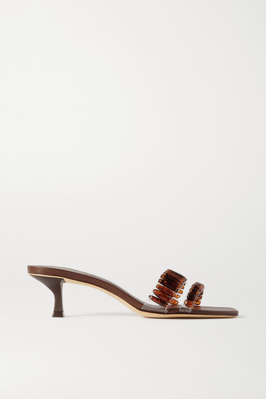 Cult Gaia Janae 圆珠缀饰 PVC 凉鞋