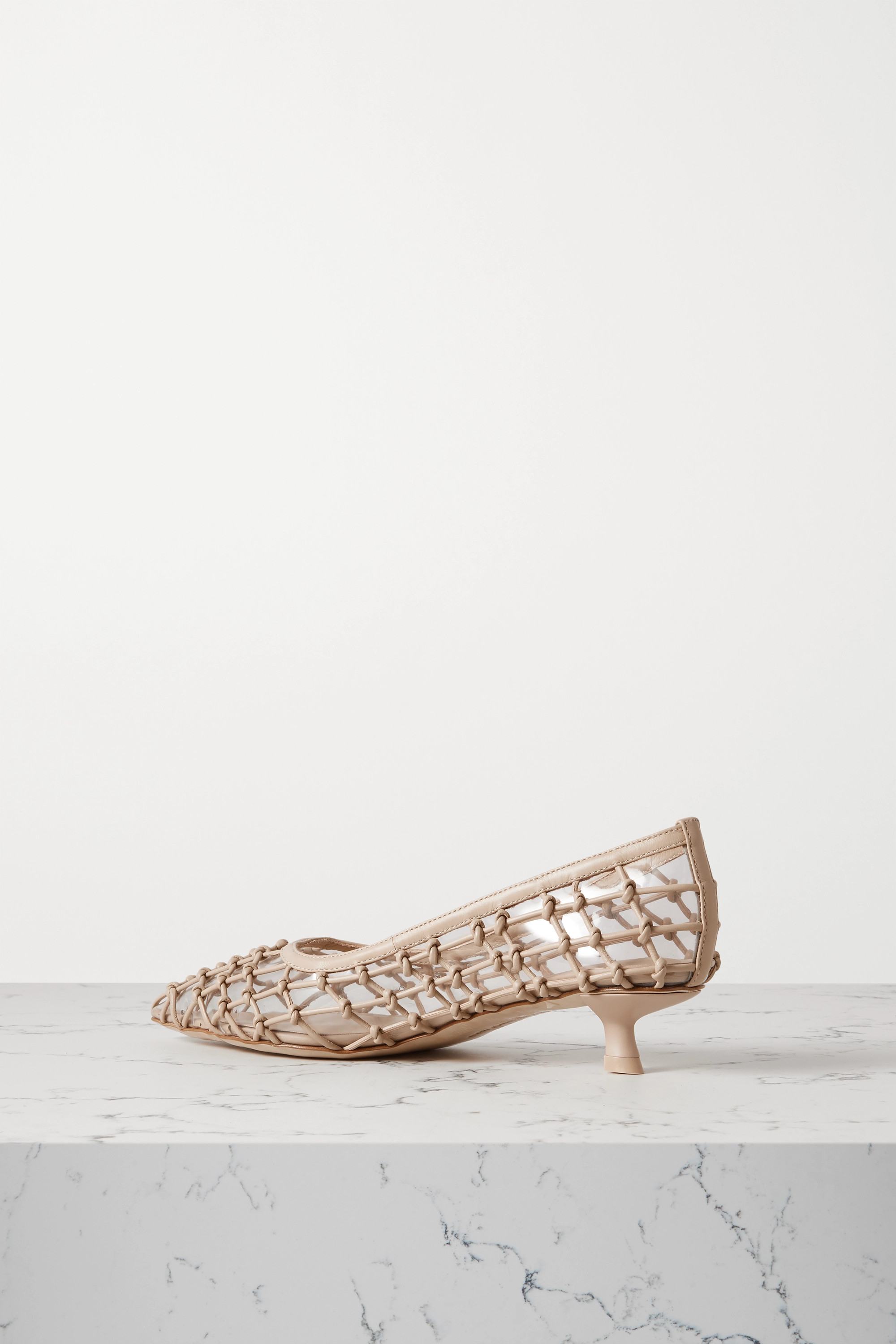 Cult Gaia Kenny PVC and knotted leather pumps
