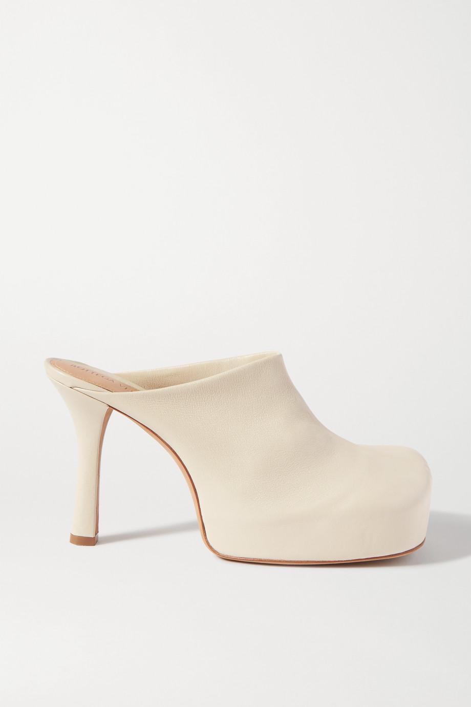 Bottega Veneta 皮革防水台穆勒鞋