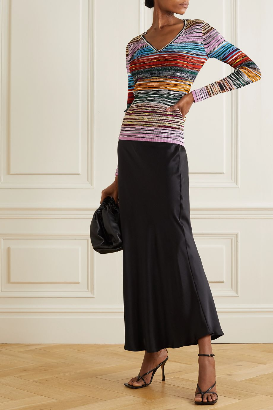 Missoni Striped space-dyed crochet-knit top