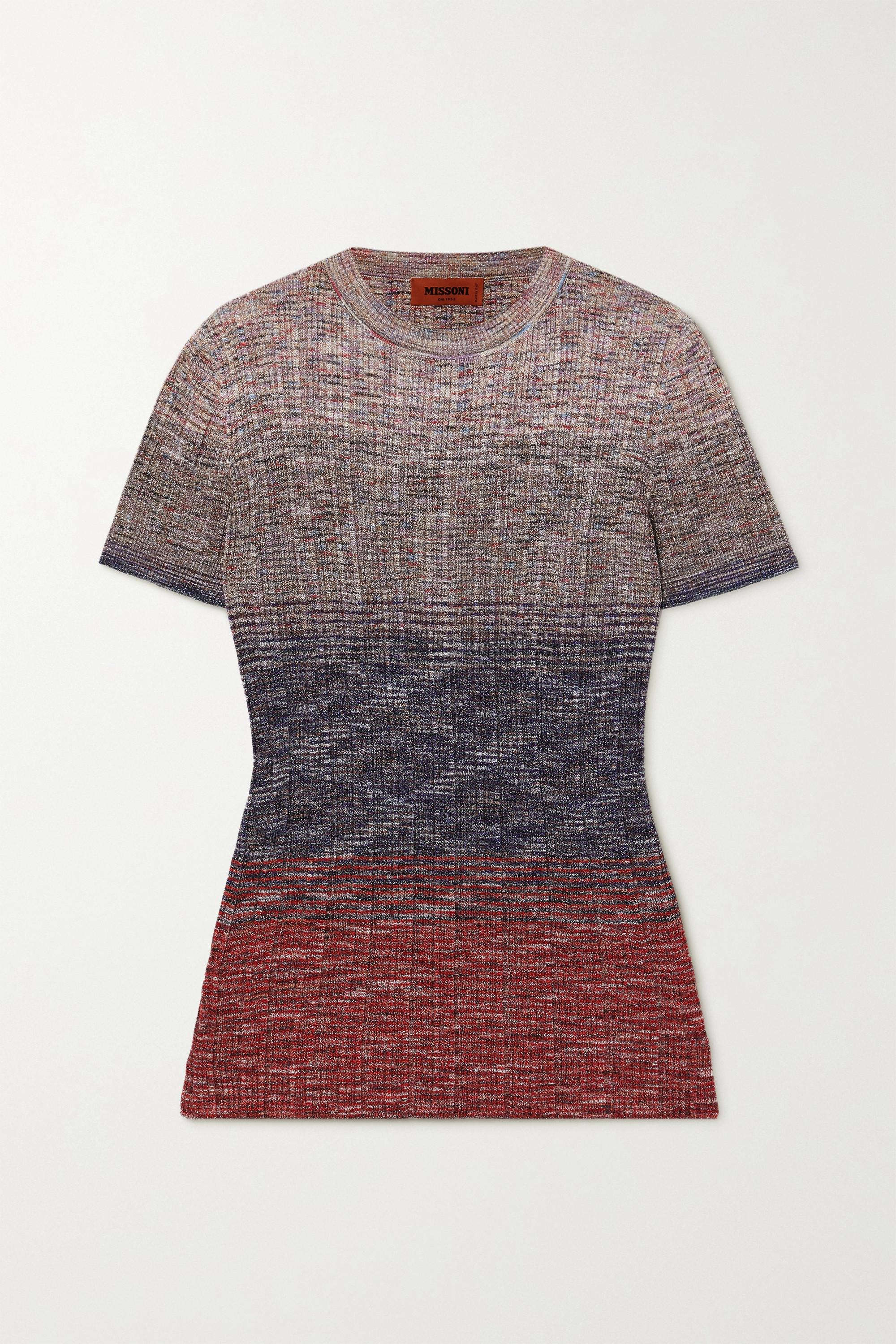 Missoni Dégradé crochet-knit top