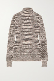 Missoni Striped wool crochet-knit turtleneck sweater