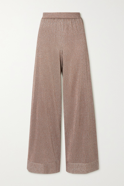 Missoni Metallic stretch-knit wide-leg pants