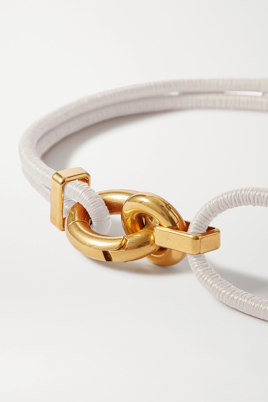 Bottega Veneta Ruched leather waist belt