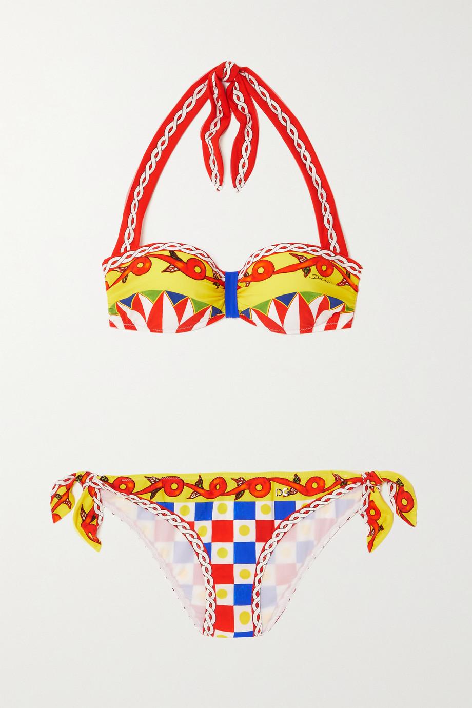 Dolce & Gabbana Bedruckter Neckholder-Bikini