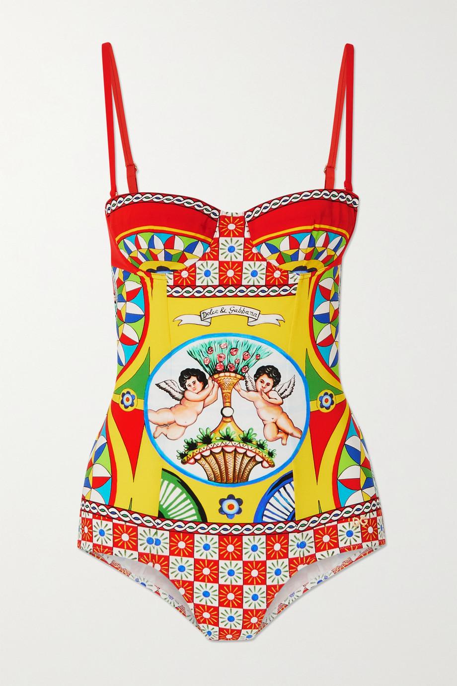 Dolce & Gabbana Maillot de bain imprimé à découpe