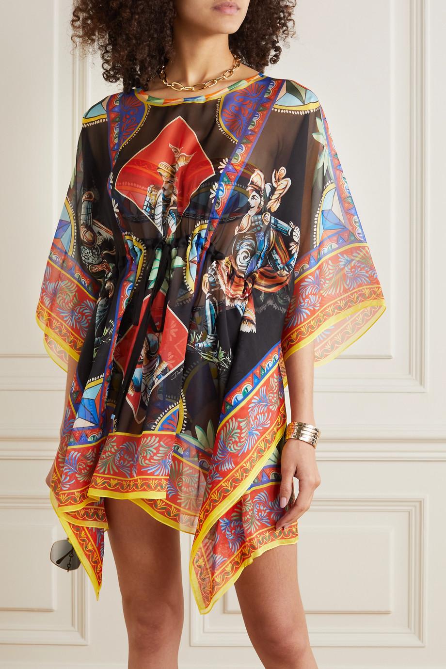Dolce & Gabbana Cafetan en soie imprimé