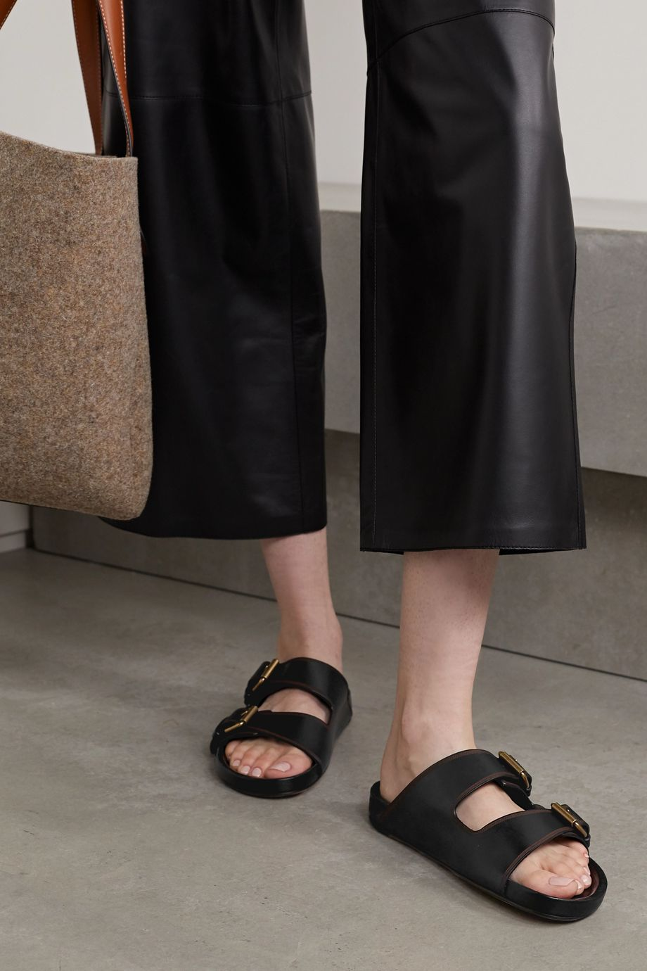 Isabel Marant Lennyo embellished leather slides