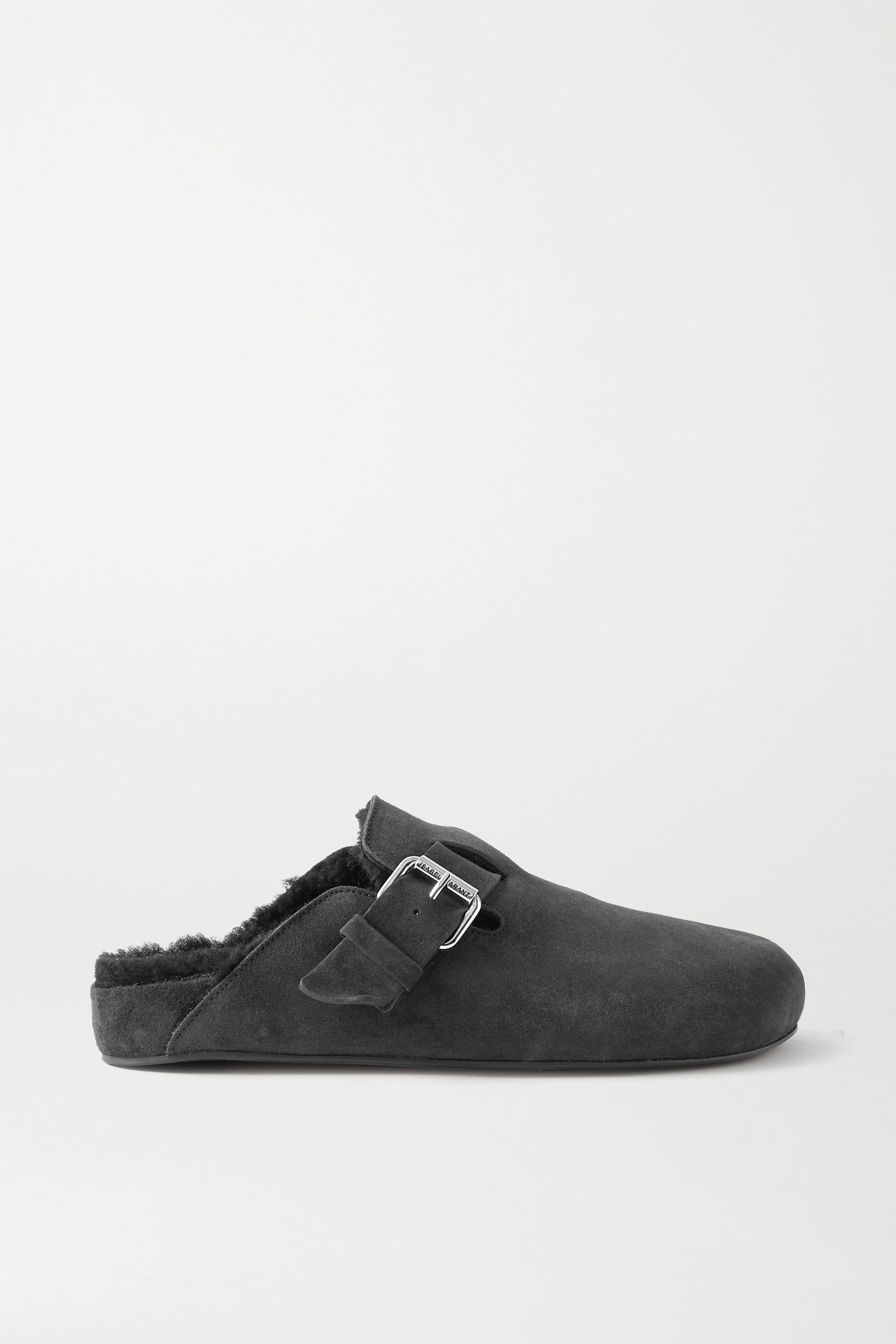 Isabel Marant Mirvin studded suede and shearling mules
