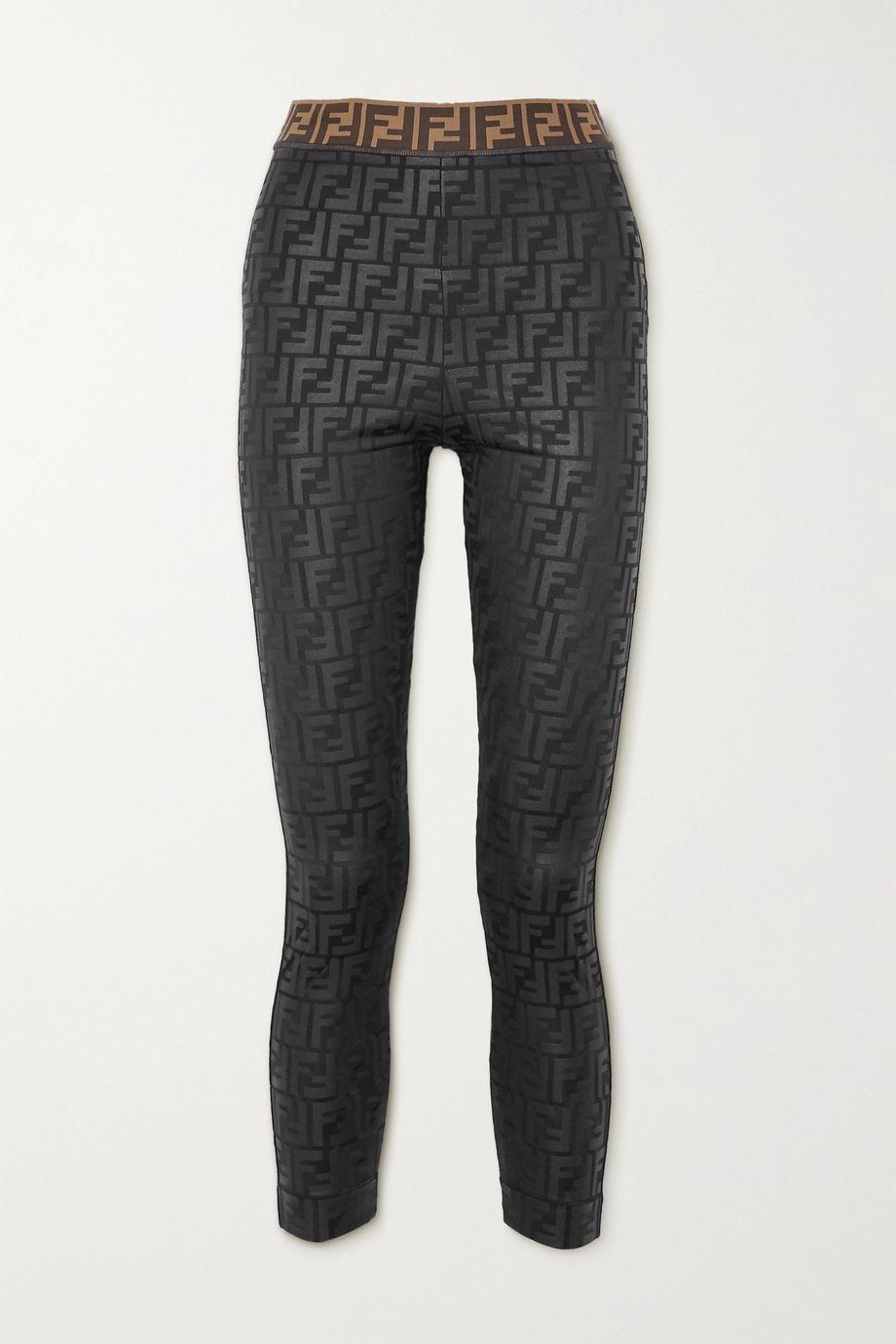 Fendi Legging stretch imprimé pailleté