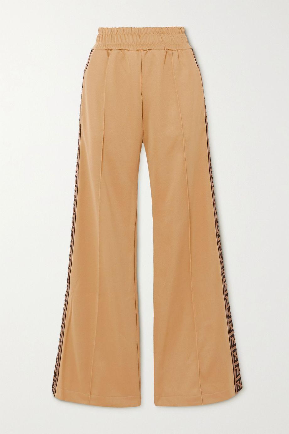 Fendi Pantalon de survêtement en jersey à finitions en jacquard
