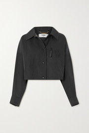 Fendi Cropped twill jacket