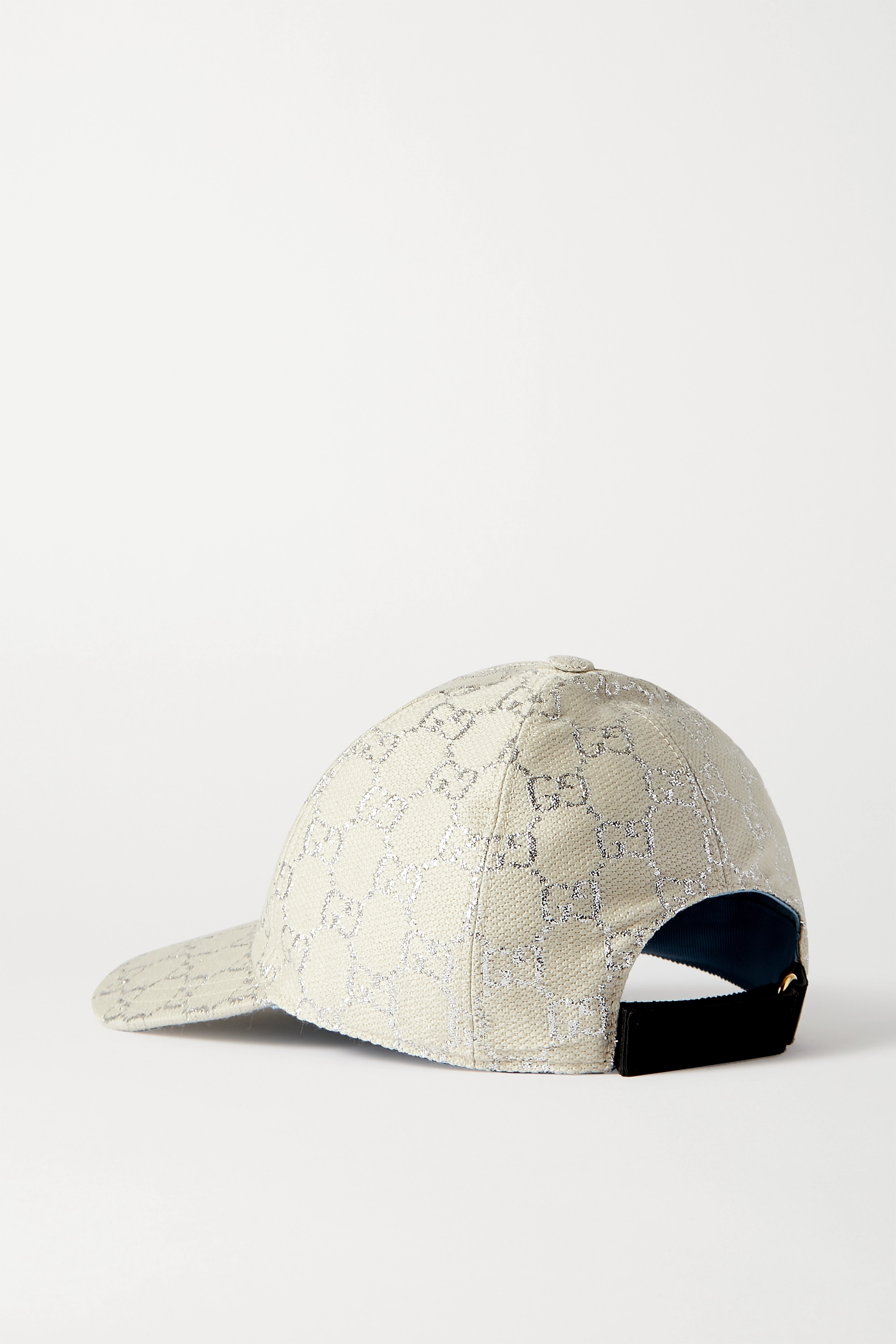 Gucci Metallic wool-blend jacquard baseball cap